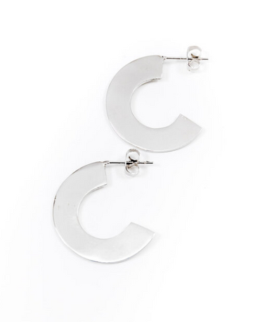 Kosi Earrings, Silver