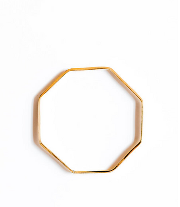 Octagon Bangle, Brass