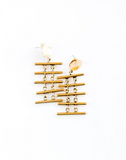 Pemba Earrings, Brass