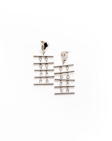 Pemba Earrings, Silver