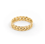 Miami - Cuban Chain Ring - 14K Yellow Gold