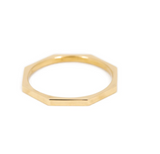 Octagon Ring - 14K Yellow Gold