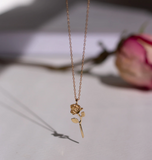 Devotion - Rose Necklace - 14K Yellow Gold