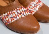 The Tatreez Oxford - Camel and Orange