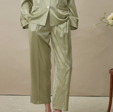 Could In Summer - Chelsea Collar Silk Pajama Set