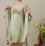 Could In Summer - French Style Silk Slip Dress