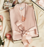 Gentle Women- Classic Silk Robe Dressing Gown