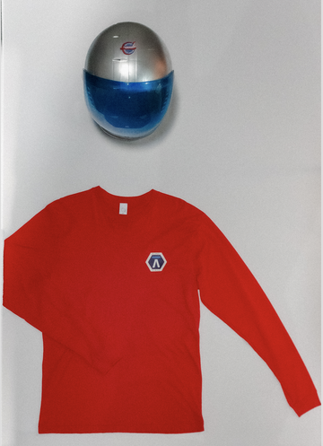 Q X Pacific Spaceflight Red Long Sleeve Shirt