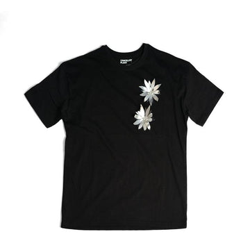 100% Recycled Cotton T-Shirt w Alu Flowers (2)