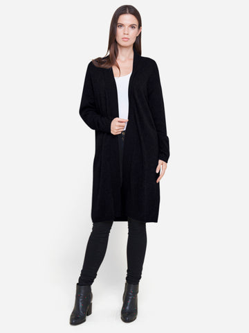 Long Open Front Cashmere Cardigan Wrap