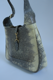 Two Tone Snake Embossed Purse with Gold Hardware