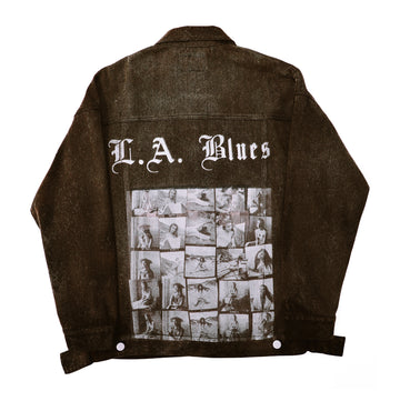 LA Blues Brown Denim Jacket