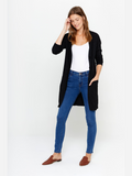 V-Neck Long Button Cashmere Cardigan