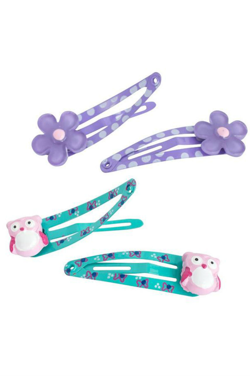 MAE 40-3102 One Touch Clips 4cm Daisy and Owl  4pcs - Life Pharmacy St Lukes