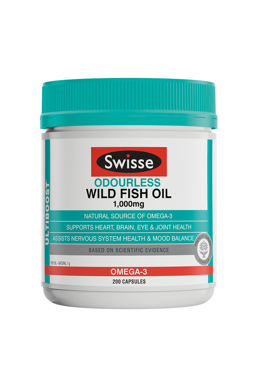SWISSE Ultiboost Odourless Wild Fish Oil 1000mg 200caps - Life Pharmacy St Lukes