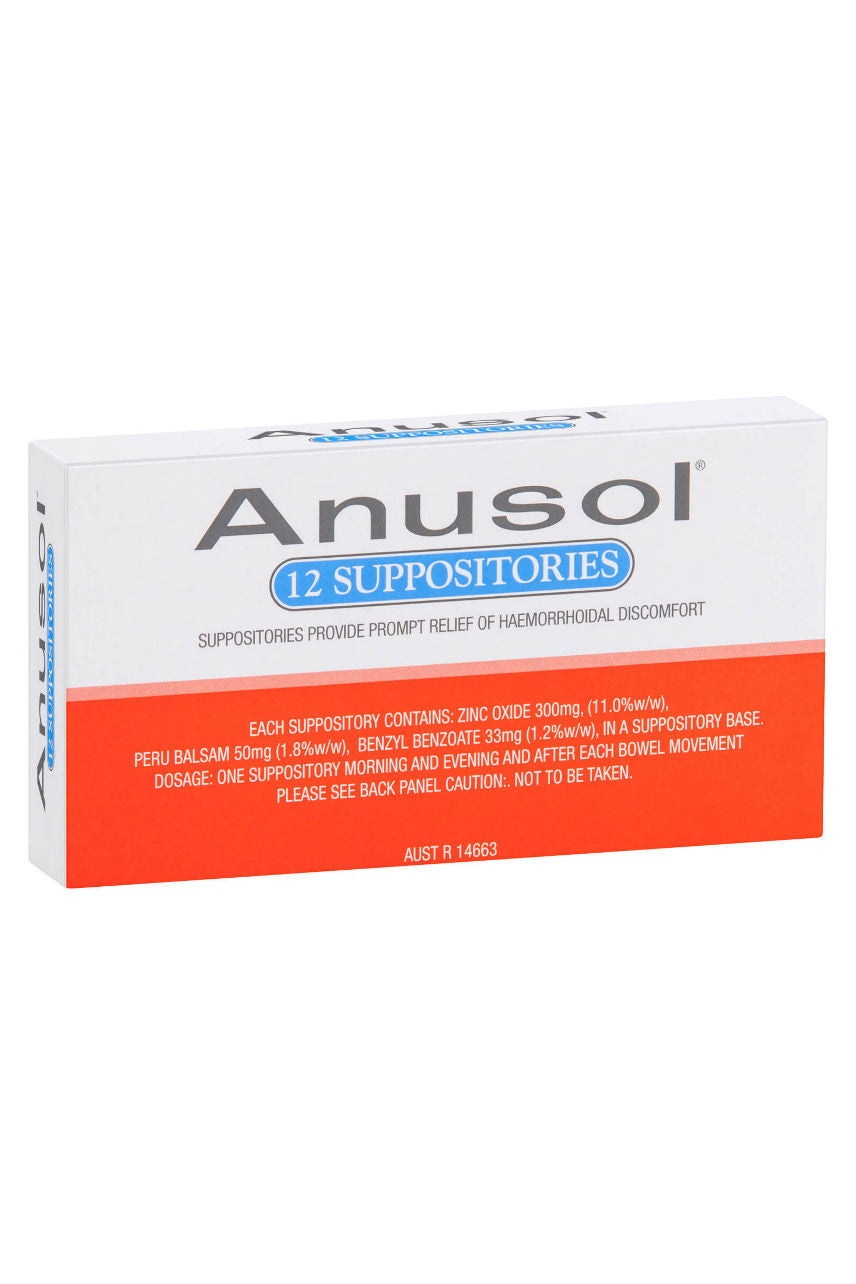 ANUSOL Suppositories 12pk - Life Pharmacy St Lukes