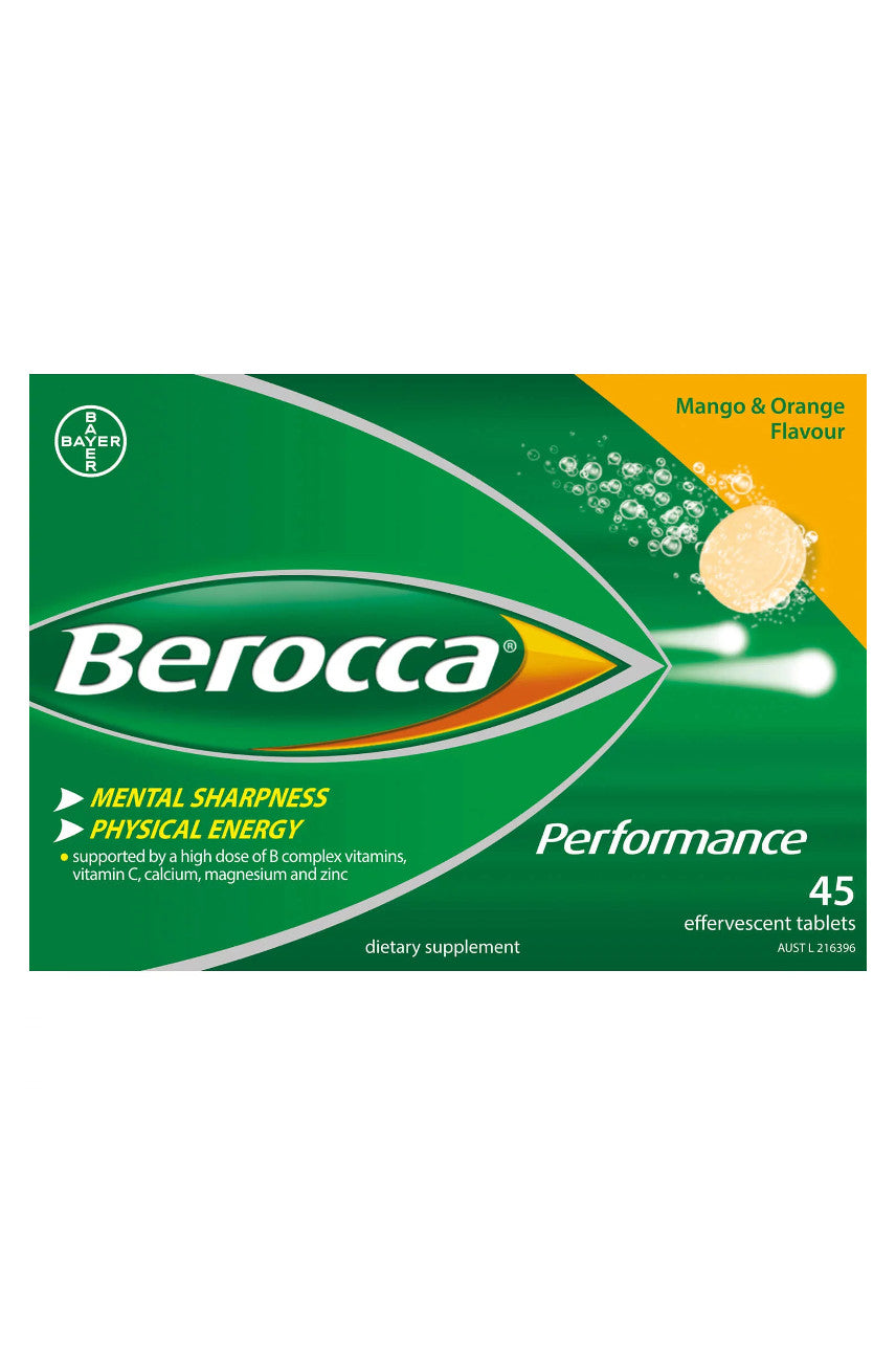 BEROCCA Performance Mango & Orange 45s - Life Pharmacy St Lukes