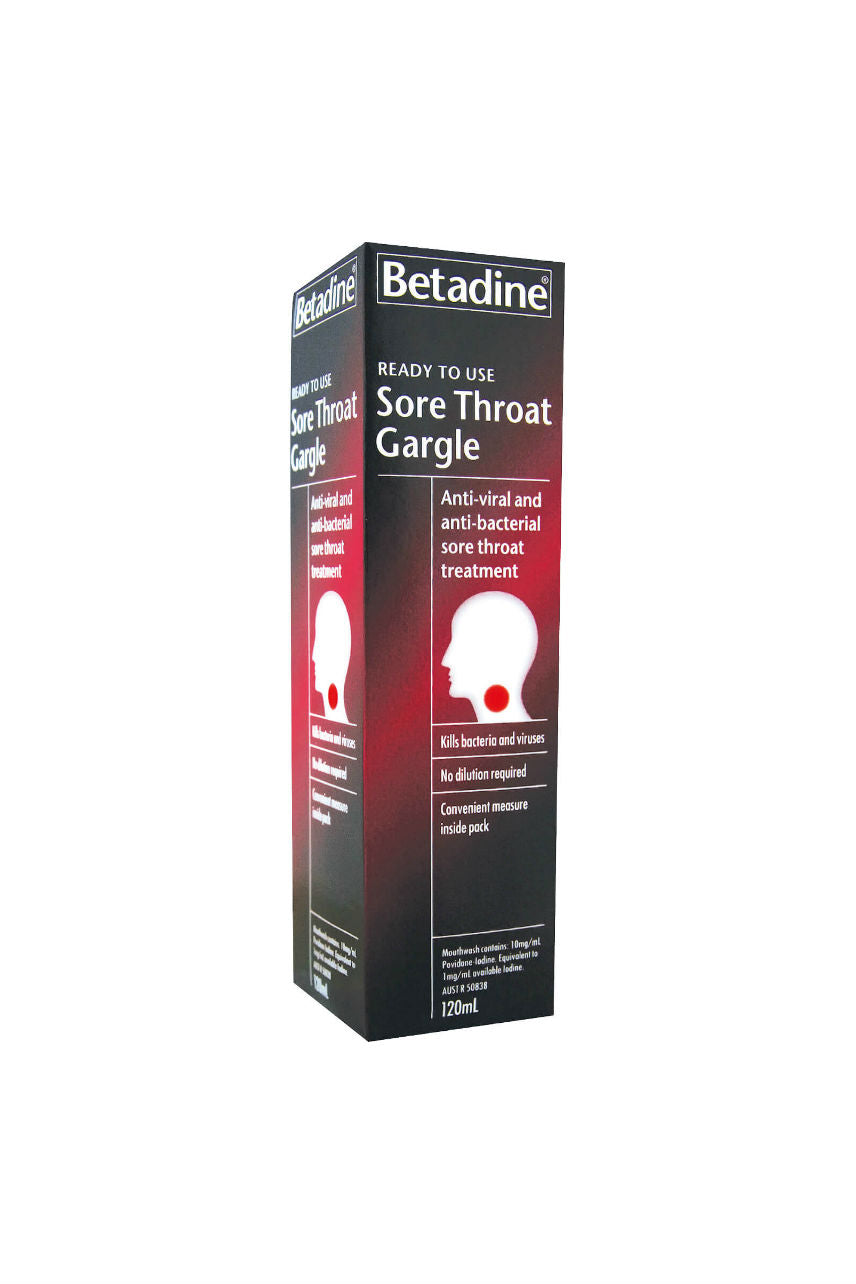 BETADINE Ready To Use Gargle 120ml - Life Pharmacy St Lukes