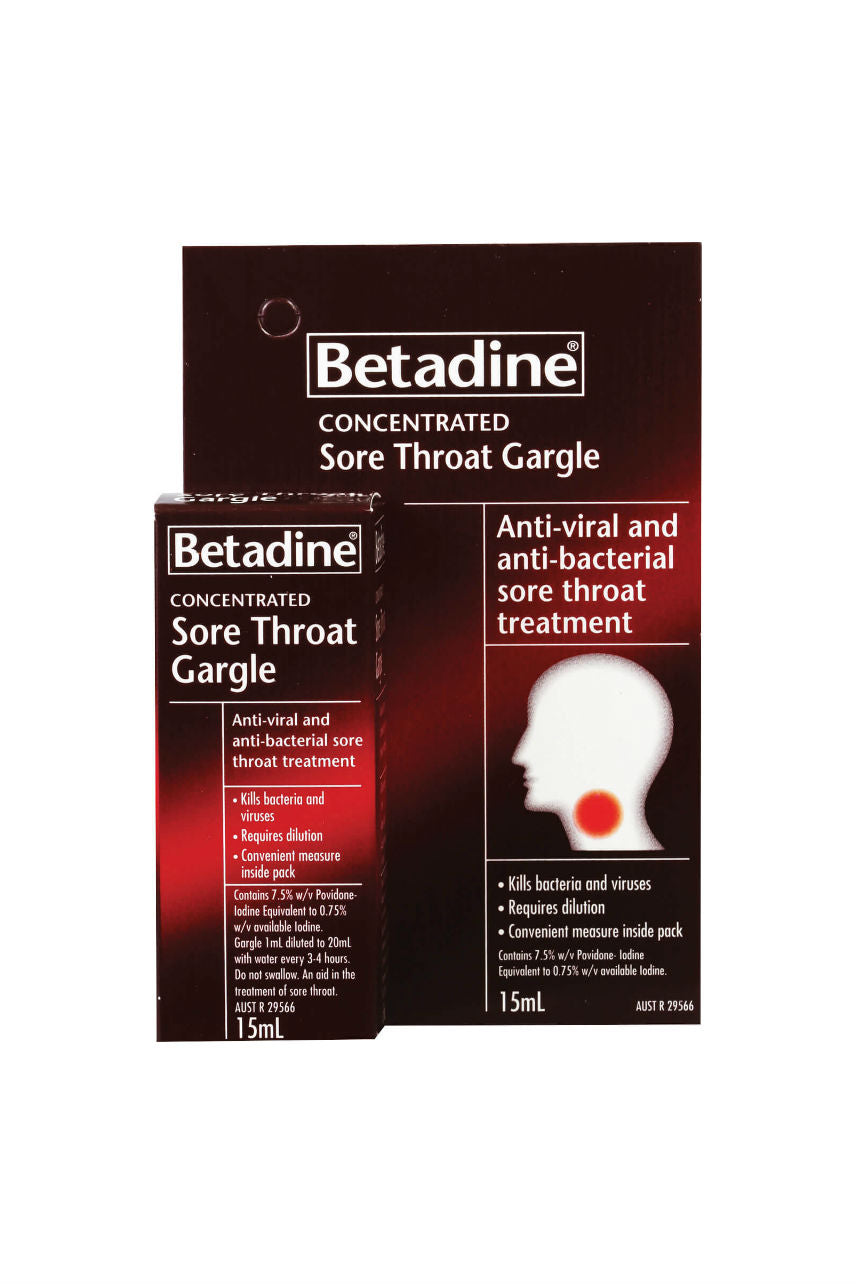 BETADINE Sore Throat Gargle 15ml - Life Pharmacy St Lukes