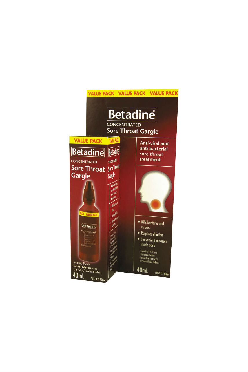 BETADINE Sore Throat Gargle 40ml - Life Pharmacy St Lukes