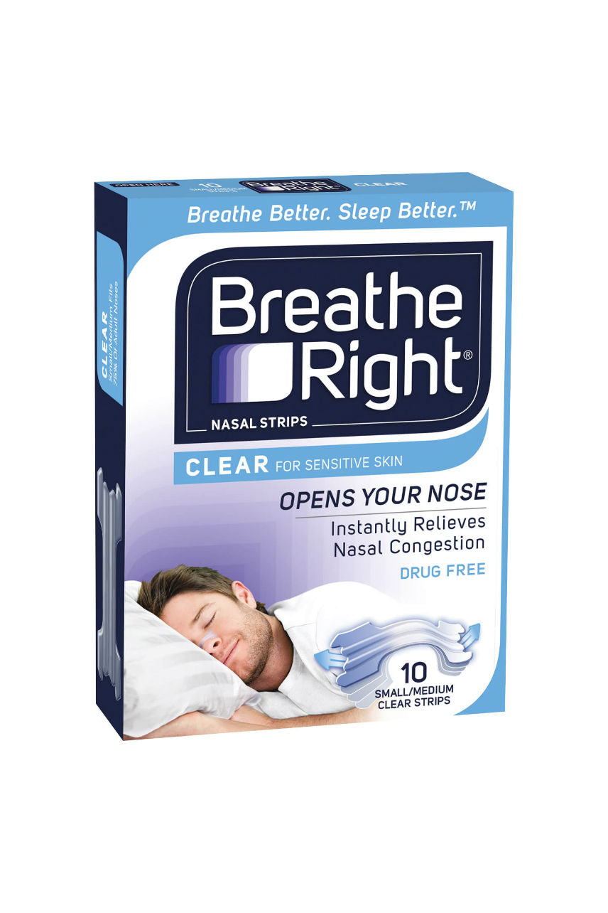BREATHE RIGHT Strips Clear Regular 10pk - Life Pharmacy St Lukes