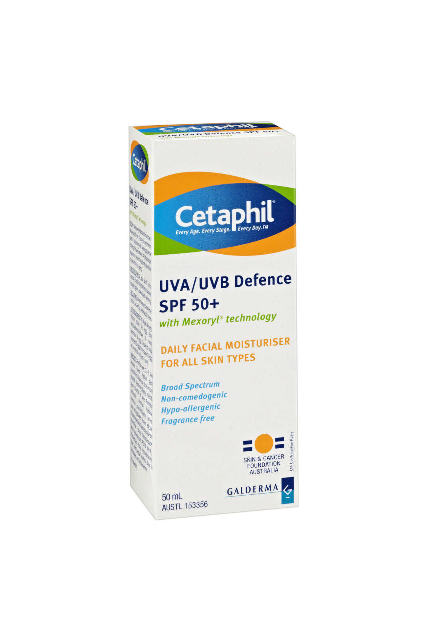CETAPHIL UVA/UVB Defence SPF50+ 50ml - Life Pharmacy St Lukes