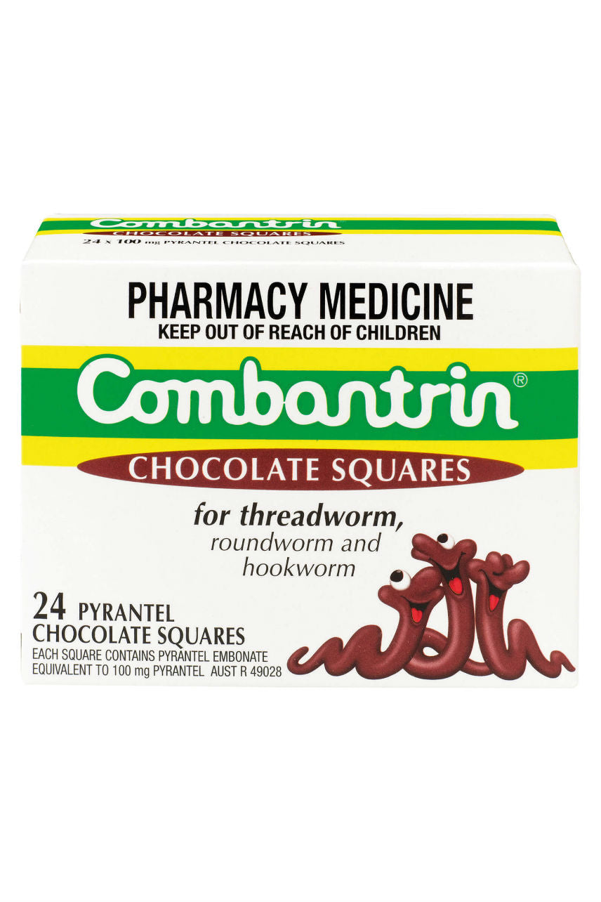COMBANTRIN Chocolate Squares 24 - Life Pharmacy St Lukes