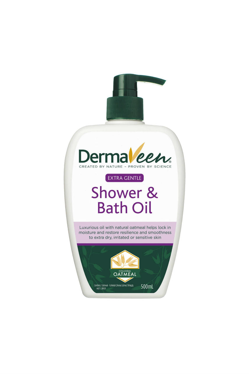 DERMAVEEN Gentle Shower & Bath Oil 500ml - Life Pharmacy St Lukes