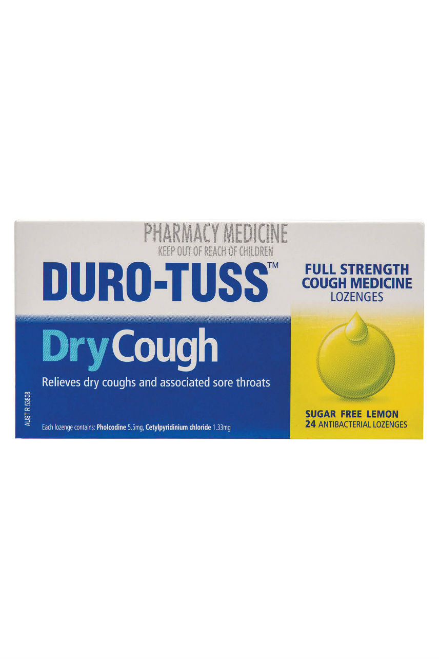 DURO-TUSS Dry Cough Lozenge Lemon 24 - Life Pharmacy St Lukes