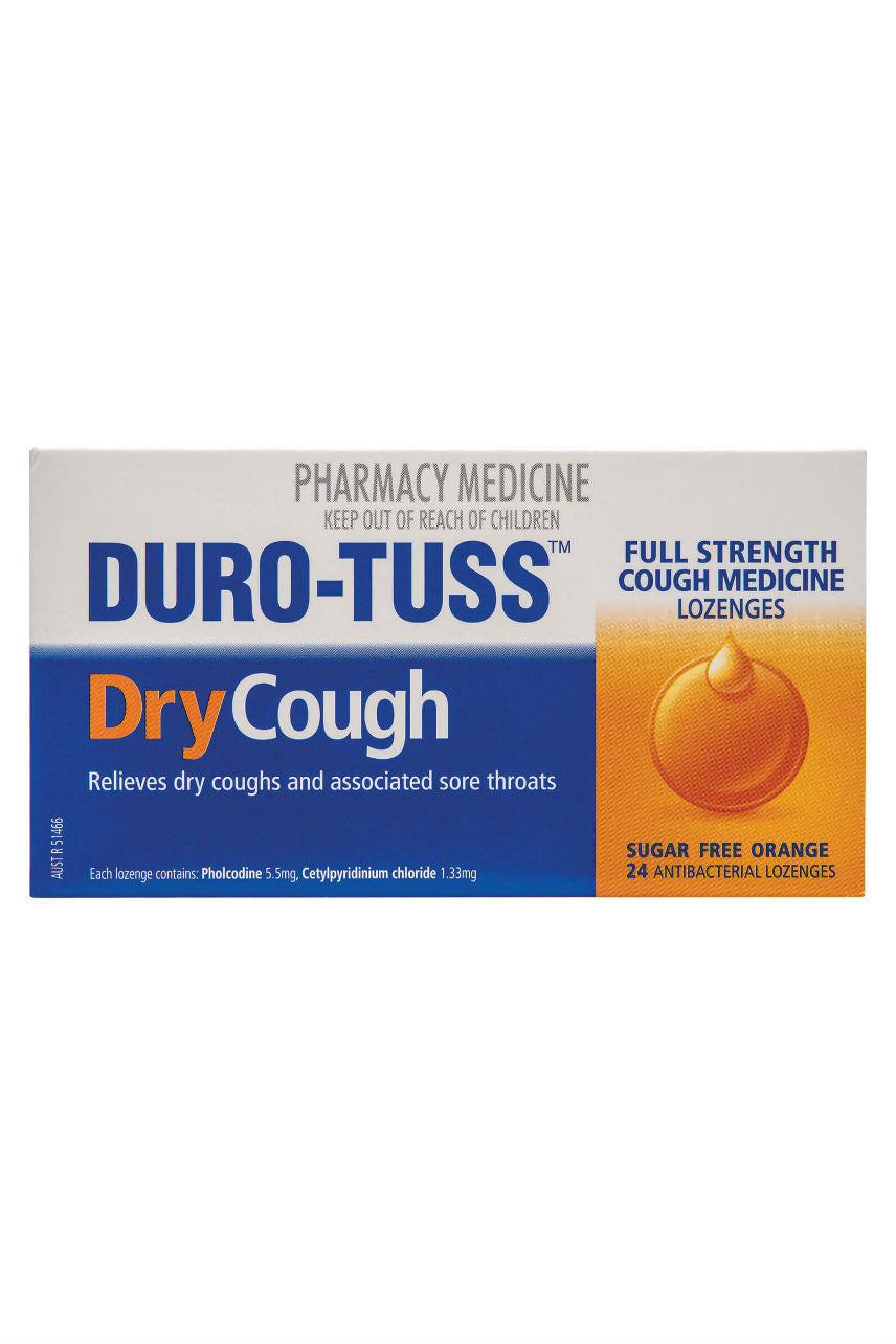 DURO-TUSS Dry Cough Lozenge Orange 24 - Life Pharmacy St Lukes