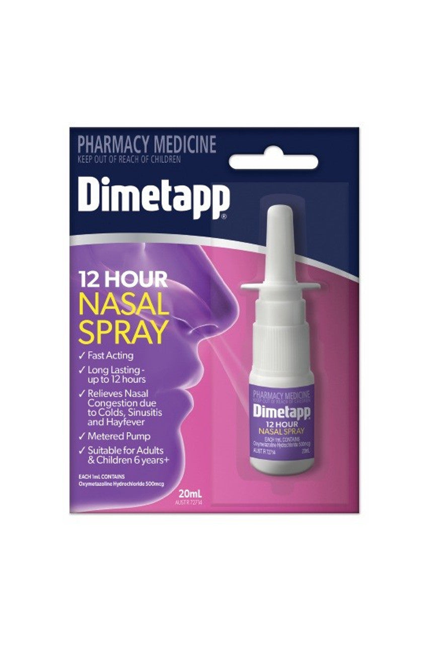 DIMETAPP 12Hr Nasal Spray 20ml - Life Pharmacy St Lukes