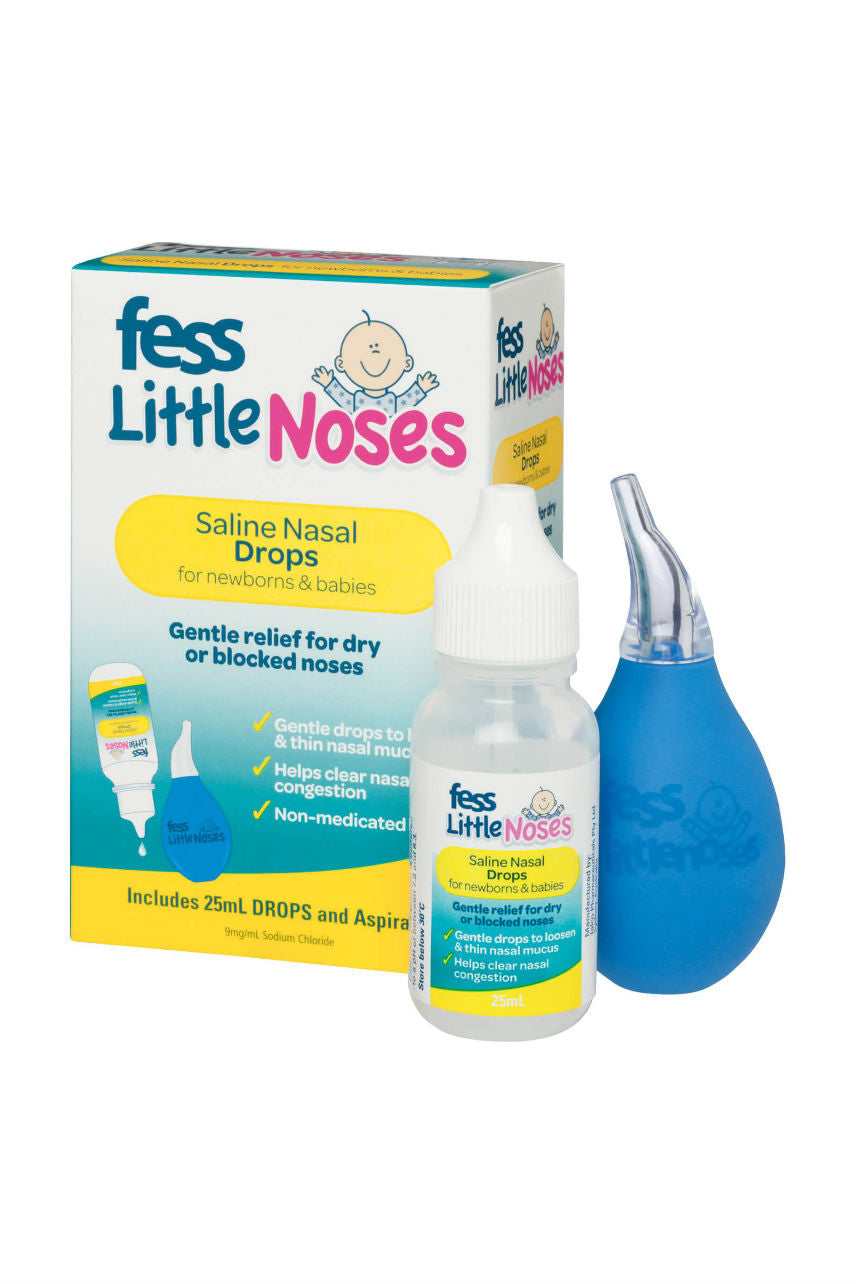 FESS Little Noses Saline Drops & Aspirator 25ml - Life Pharmacy St Lukes