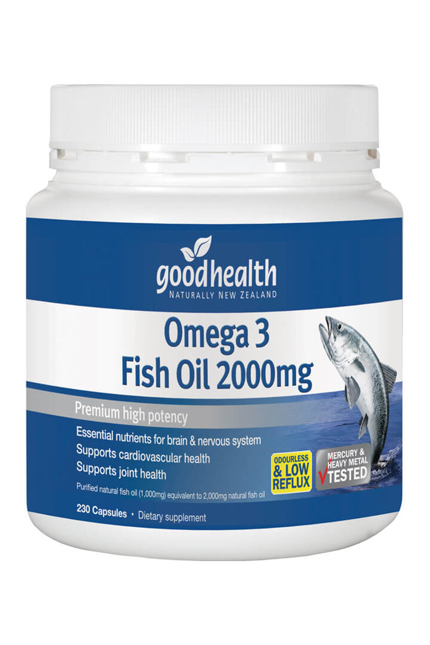 GOOD HEALTH Omega-3 Fish Oil 2000mg 230caps - Life Pharmacy St Lukes