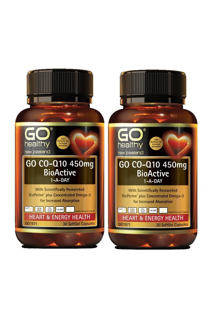 GO HEALTHY CoQ10 450mg Bioactive 1ADay 2x30 Twin Pack - Life Pharmacy St Lukes