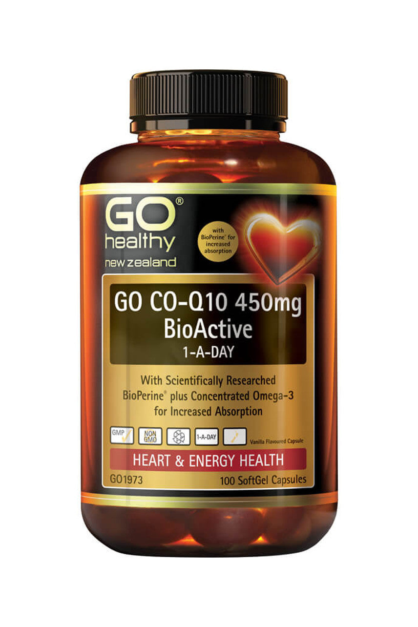 GO HEALTHY CoQ10 450mg BioActive 1ADay 100s - Life Pharmacy St Lukes
