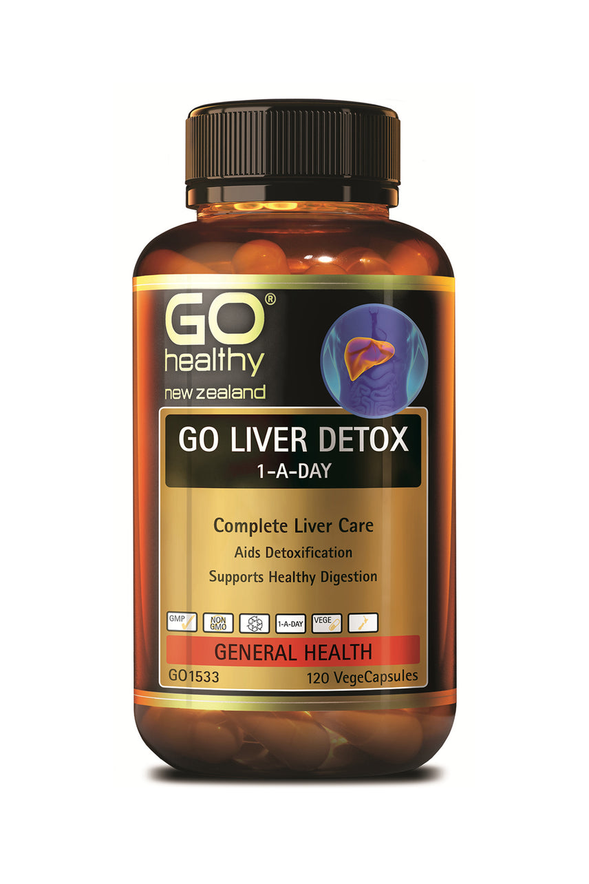 GO HEALTHY Liver Detox 1-A-Day 120 Capsules - Life Pharmacy St Lukes