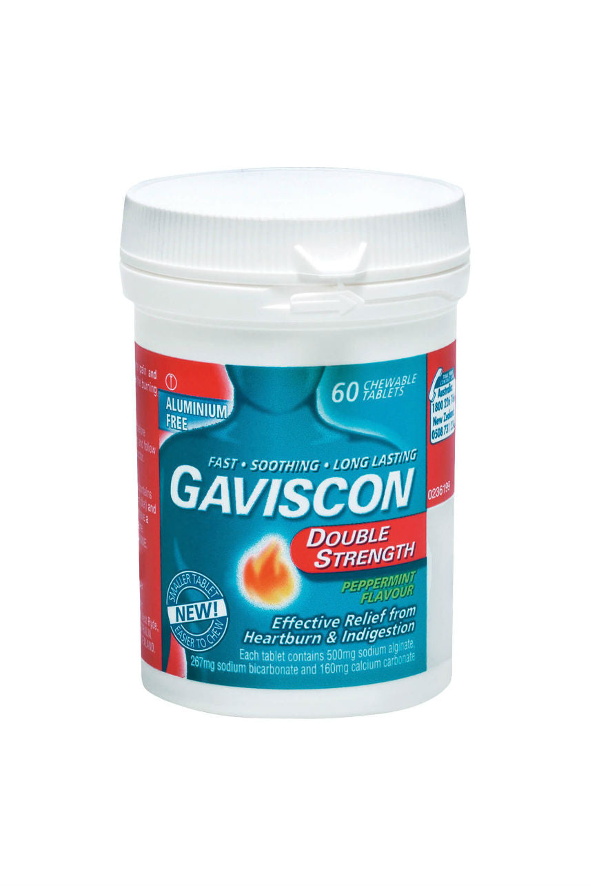 GAVISCON Double Strength Peppermint Chew 60Tab - Life Pharmacy St Lukes