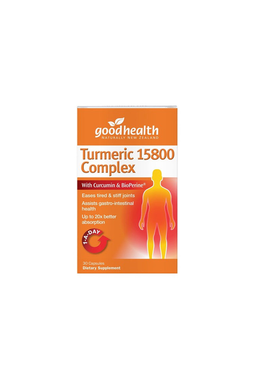 GOOD HEALTH Turmeric 15800 Complex 30caps - Life Pharmacy St Lukes