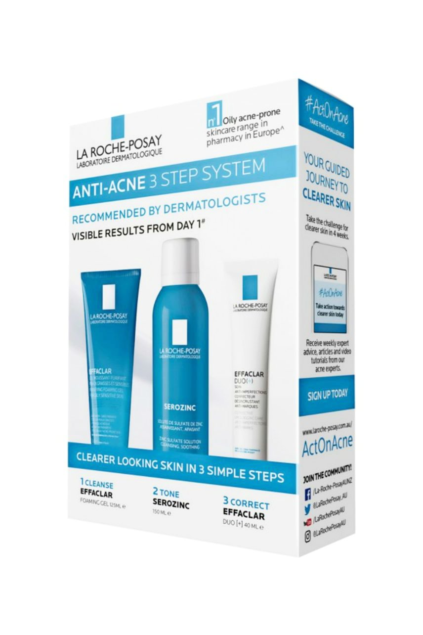 LA ROCHE-POSAY Effaclar Anti-Acne 3 Step Kit - Life Pharmacy St Lukes