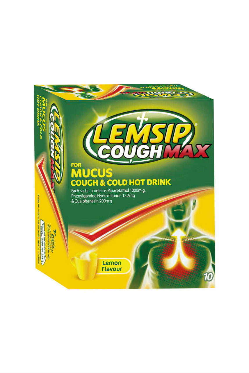 LEMSIP Max Mucus Cough Hot Drink 10 - Life Pharmacy St Lukes