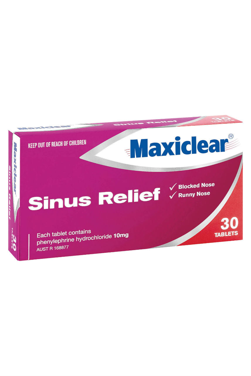 MAXICLEAR Sinus Relief Tabs 30s - Life Pharmacy St Lukes