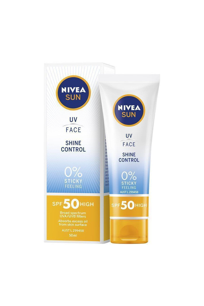 NIVEA Sun UV Face Shine Control Sunscreen SPF50 50ml - Life Pharmacy St Lukes