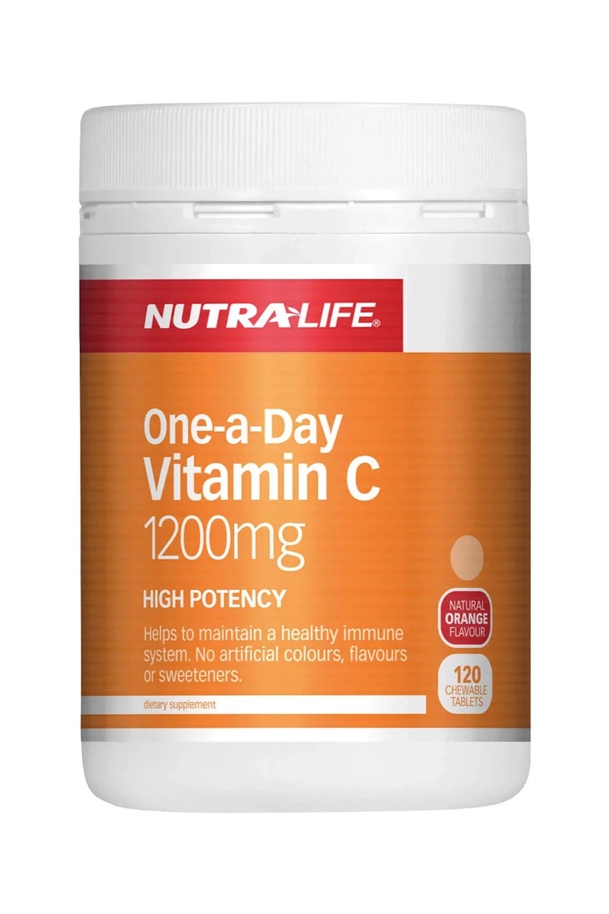 NUTRALIFE Vitamin C 1200mg High Potency 1-a-DAY Chews 120tabs - Life Pharmacy St Lukes
