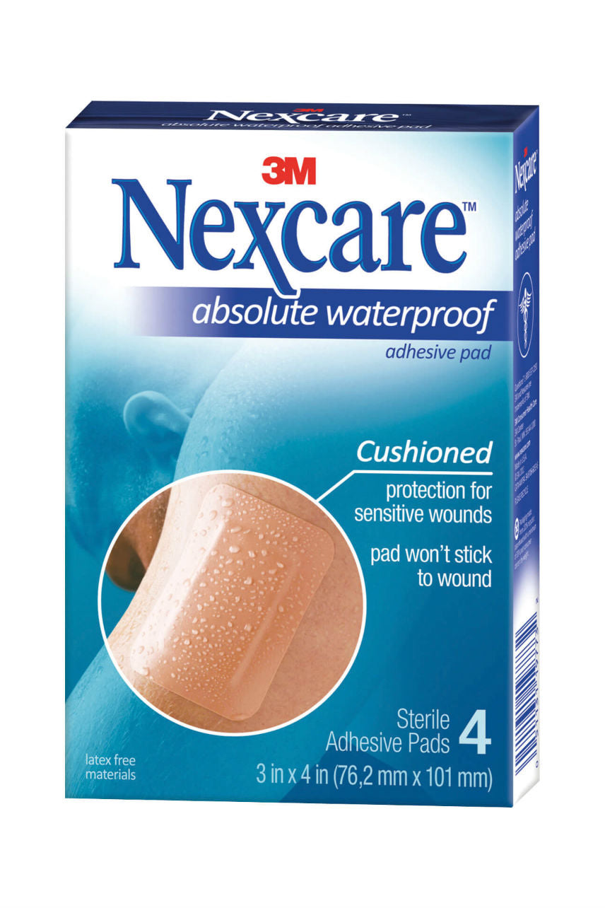 Nexcare Absolute Waterproof Adhesive Pad 4 - Life Pharmacy St Lukes