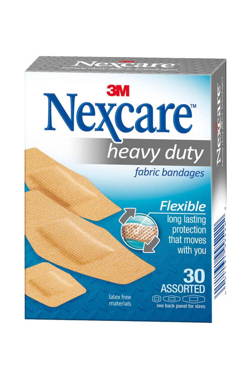 Nexcare Heavy Duty Fabric Bandage Asst 30pk - Life Pharmacy St Lukes