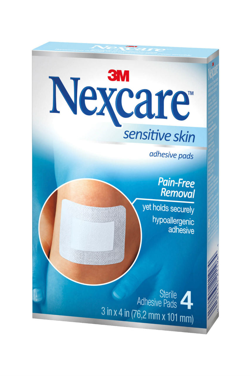 Nexcare Sensitive Skin Adhesive Pads 4 - Life Pharmacy St Lukes