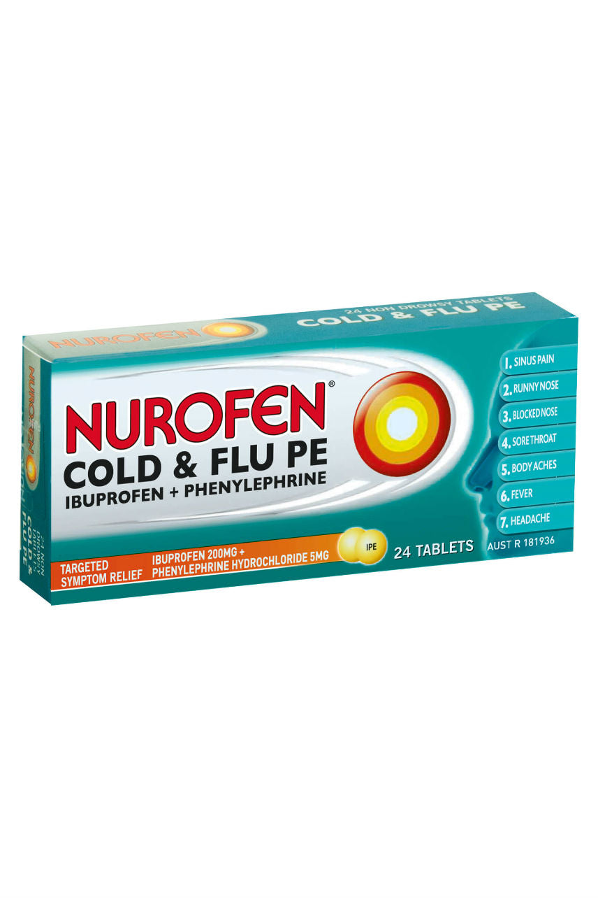 NUROFEN Cold & Flu Tabs 24s - Life Pharmacy St Lukes