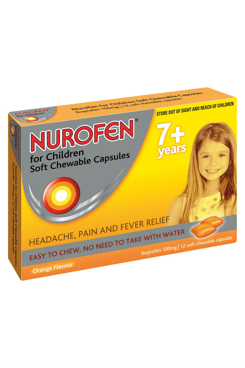 NUROFEN Child 7+ Chewable Orange 12s - Life Pharmacy St Lukes