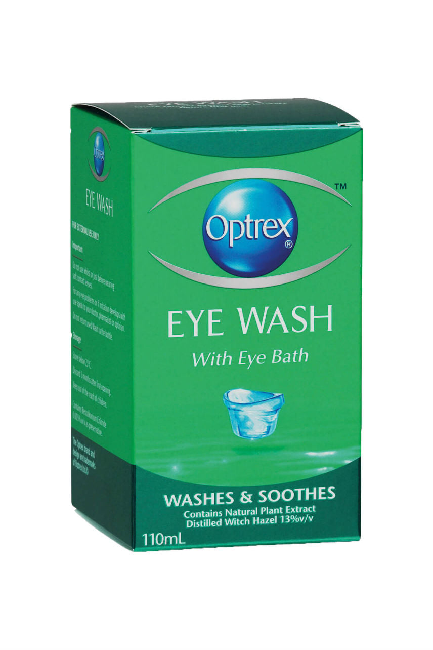OPTREX Eye Wash with Bath 110ml - Life Pharmacy St Lukes