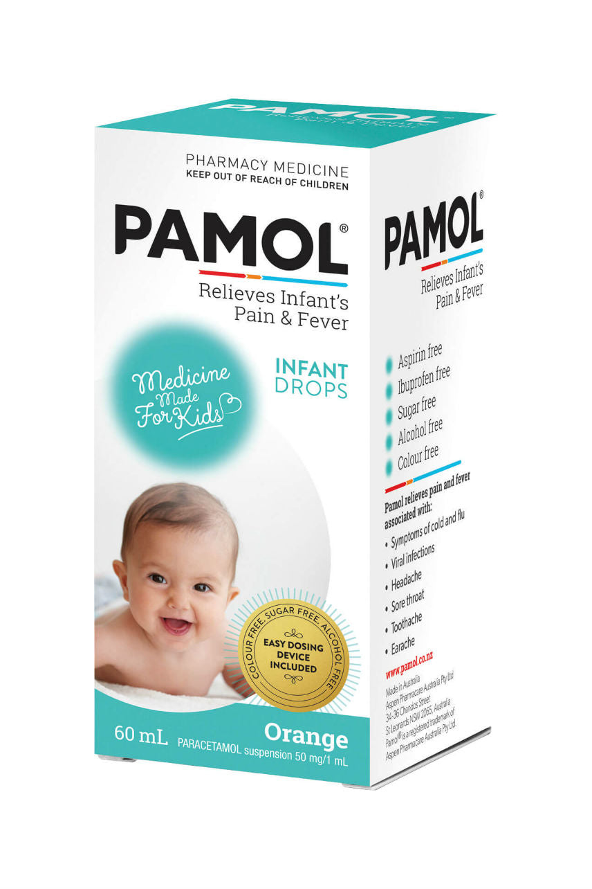 PAMOL Infant Drops Colour Free 60ml - Life Pharmacy St Lukes